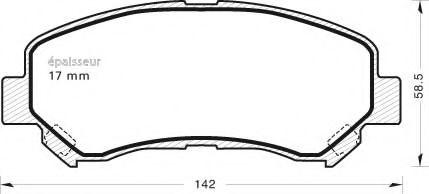 MGA 919 Комплект тормозных колодок, дисковый тормоз для NISSAN QASHQAI (Ниссан Кашкай)