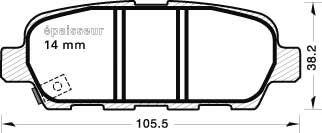 MGA 954 Комплект тормозных колодок, дисковый тормоз для NISSAN QASHQAI (Ниссан Кашкай)