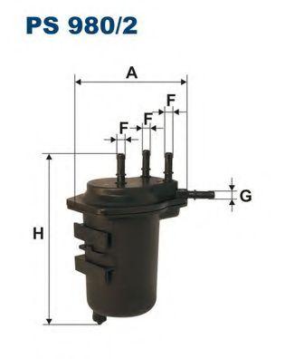 FILTRON PS980/2 Топливный фильтр для NISSAN JUKE (Ниссан Джук)