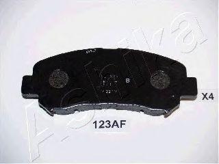ASHIKA 50-01-123 Комплект тормозных колодок, дисковый тормоз для NISSAN QASHQAI (Ниссан Кашкай)