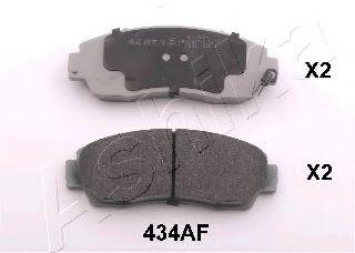 ASHIKA 50-04-434 Комплект тормозных колодок, дисковый тормоз для GREAT WALL HOVER H6 (Грейтвол Хоvэр х6)