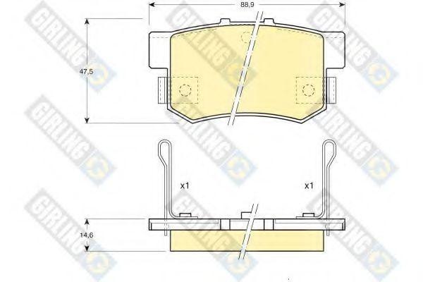 GIRLING 6107749 Комплект тормозных колодок, дисковый тормоз для GREAT WALL HOVER H6 (Грейтвол Хоvэр х6)