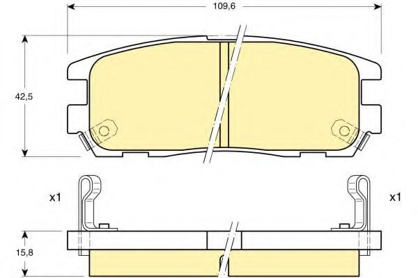 GIRLING 6111879 Комплект тормозных колодок, дисковый тормоз для GREAT WALL HOVER H5 (Грейтвол Ховер н5)