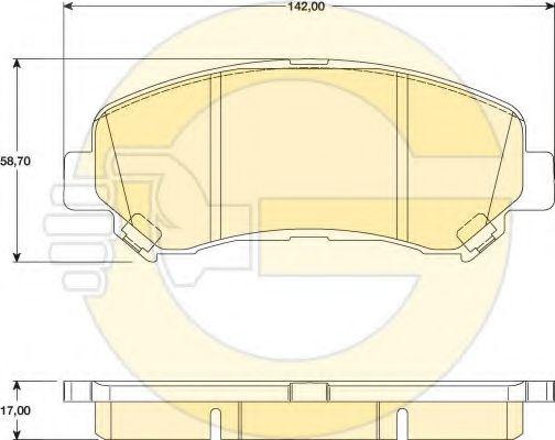 GIRLING 6134679 Комплект тормозных колодок, дисковый тормоз для NISSAN QASHQAI (Ниссан Кашкай)