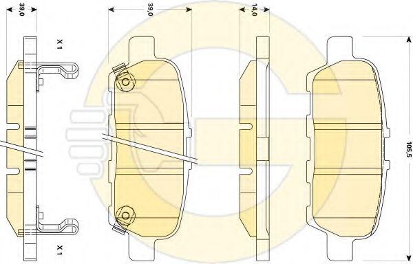 GIRLING 6135079 Комплект тормозных колодок, дисковый тормоз для NISSAN QASHQAI (Ниссан Кашкай)