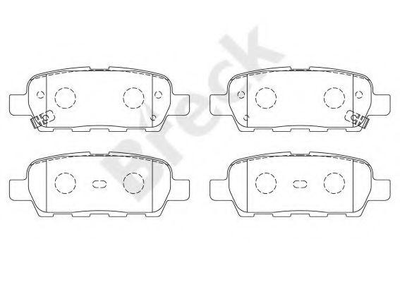 BRECK 23871 00 702 10 Комплект тормозных колодок, дисковый тормоз для NISSAN QASHQAI (Ниссан Кашкай)