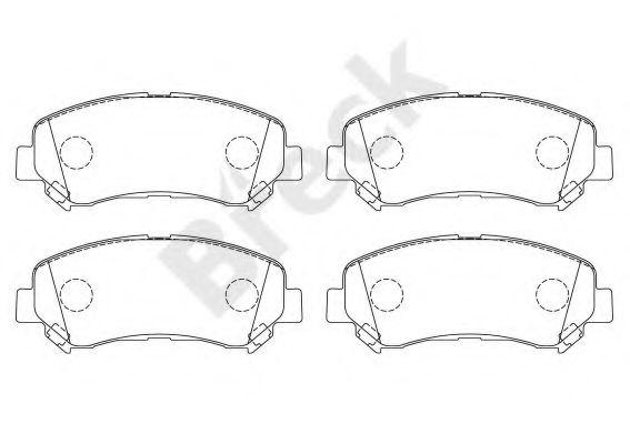 BRECK 24632 00 701 00 Комплект тормозных колодок, дисковый тормоз для NISSAN QASHQAI (Ниссан Кашкай)