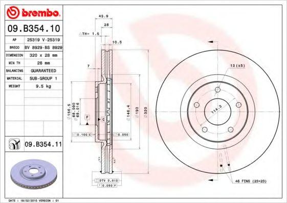 AP 25319 Тормозной диск для NISSAN QASHQAI (Ниссан Кашкай)