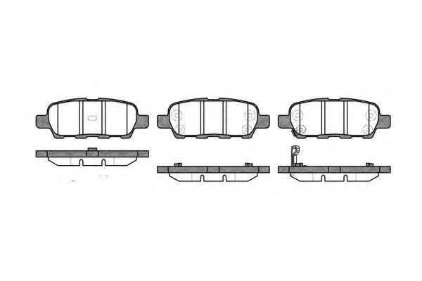 KAWE 0876 01 Комплект тормозных колодок, дисковый тормоз для NISSAN QASHQAI (Ниссан Кашкай)
