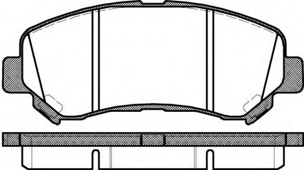 KAWE 1318 00 Комплект тормозных колодок, дисковый тормоз для NISSAN QASHQAI (Ниссан Кашкай)