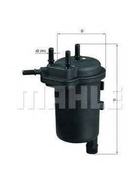 MAHLE ORIGINAL KL 430 Топливный фильтр для NISSAN JUKE (Ниссан Джук)