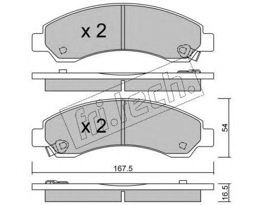 fri.tech. 905.0 Комплект тормозных колодок, дисковый тормоз для GREAT WALL HOVER H6 (Грейтвол Хоvэр х6)