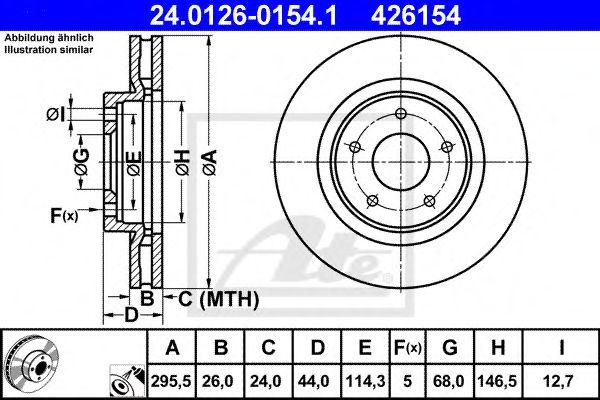 ATE 24.0126-0154.1 Тормозной диск для NISSAN QASHQAI (Ниссан Кашкай)