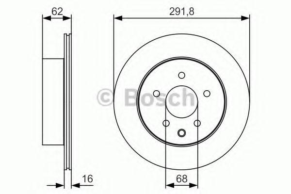 BOSCH 0 986 479 S31 Тормозной диск для NISSAN QASHQAI (Ниссан Кашкай)