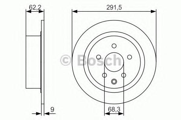 BOSCH 0 986 479 S71 Тормозной диск для NISSAN QASHQAI (Ниссан Кашкай)