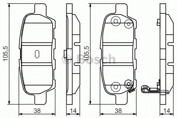 BOSCH 0 986 495 089 Комплект тормозных колодок, дисковый тормоз для NISSAN QASHQAI (Ниссан Кашкай)