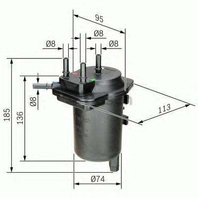 BOSCH 0 450 907 013 Топливный фильтр K9K для NISSAN JUKE (Ниссан Джук)