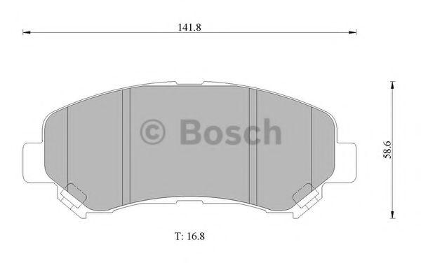 BOSCH 0 986 AB1 386 Комплект тормозных колодок, дисковый тормоз для NISSAN QASHQAI (Ниссан Кашкай)