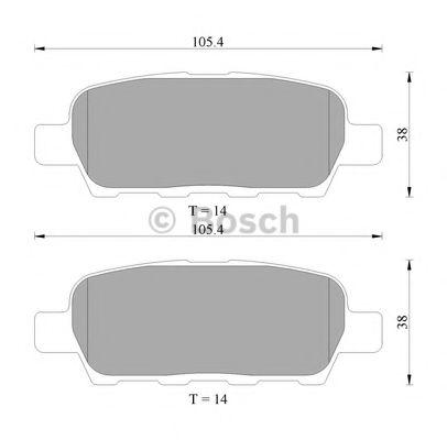 BOSCH 0 986 AB1 403 Комплект тормозных колодок, дисковый тормоз для NISSAN QASHQAI (Ниссан Кашкай)