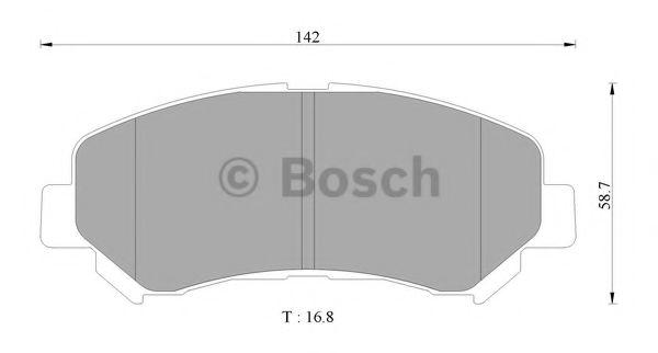 BOSCH 0 986 AB2 375 Комплект тормозных колодок, дисковый тормоз для NISSAN QASHQAI (Ниссан Кашкай)