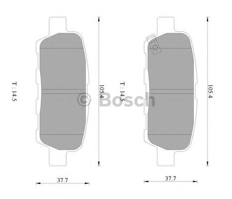 BOSCH 0 986 AB3 076 Комплект тормозных колодок, дисковый тормоз для NISSAN QASHQAI (Ниссан Кашкай)