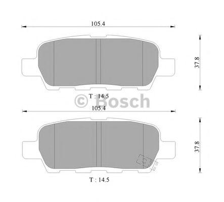 BOSCH 0 986 AB9 283 Комплект тормозных колодок, дисковый тормоз для NISSAN QASHQAI (Ниссан Кашкай)