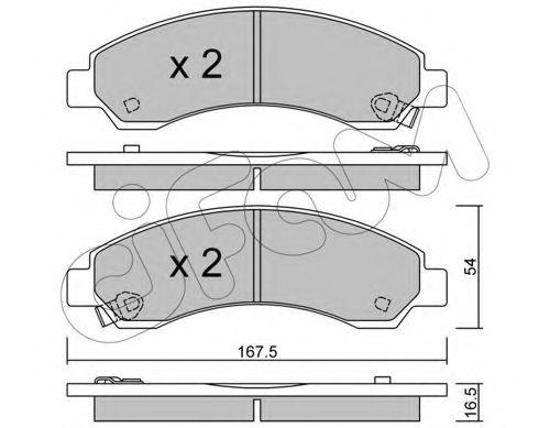 CIFAM 822-888-0 Комплект тормозных колодок, дисковый тормоз для GREAT WALL HOVER H6 (Грейтвол Хоvэр х6)
