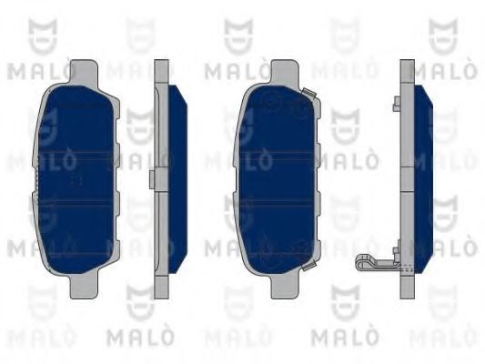 MALÒ 1050330 Комплект тормозных колодок, дисковый тормоз для NISSAN QASHQAI (Ниссан Кашкай)