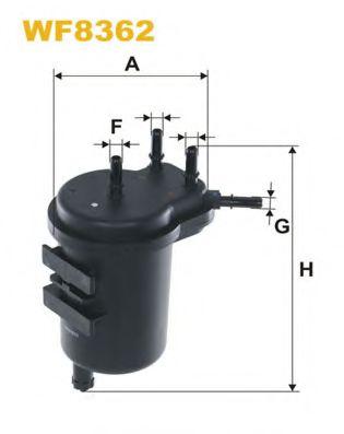WIX FILTERS WF8362 Топливный фильтр для NISSAN JUKE (Ниссан Джук)
