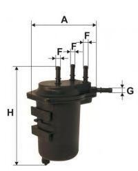 UNIFLUX FILTERS XN135 Топливный фильтр для NISSAN JUKE (Ниссан Джук)