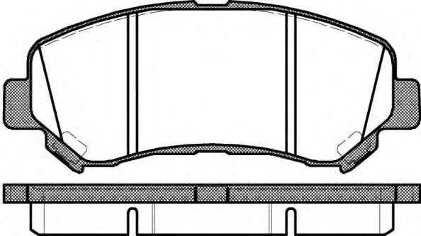 WOKING P12183.00 Комплект тормозных колодок, дисковый тормоз для NISSAN QASHQAI (Ниссан Кашкай)