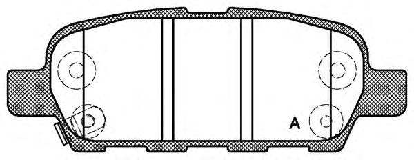 OPEN PARTS BPA0876.01 Комплект тормозных колодок, дисковый тормоз для NISSAN QASHQAI (Ниссан Кашкай)