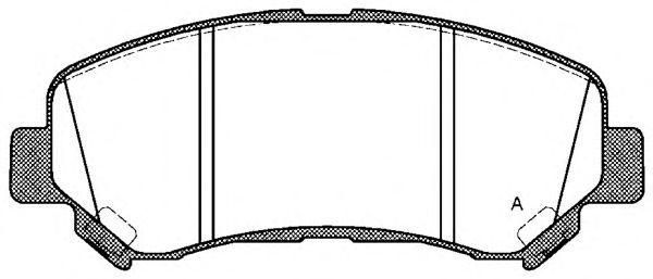 OPEN PARTS BPA1318.00 Комплект тормозных колодок, дисковый тормоз для NISSAN QASHQAI (Ниссан Кашкай)