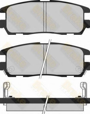 Brake ENGINEERING PA1031 Комплект тормозных колодок, дисковый тормоз для GREAT WALL HOVER H5 (Грейтвол Ховер н5)