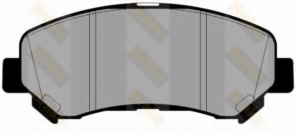 Brake ENGINEERING PA1775 Комплект тормозных колодок, дисковый тормоз для NISSAN QASHQAI (Ниссан Кашкай)