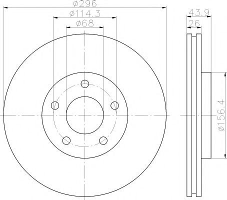 TEXTAR 92167400 Тормозной диск для NISSAN QASHQAI (Ниссан Кашкай)