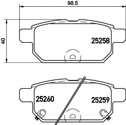 Комплект тормозных колодок NISSHINBO NP9016
