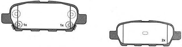 RAICAM RA.0526.0 Комплект тормозных колодок, дисковый тормоз для NISSAN QASHQAI (Ниссан Кашкай)