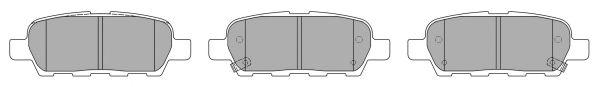 FREMAX FBP-1545 Комплект тормозных колодок, дисковый тормоз для NISSAN QASHQAI (Ниссан Кашкай)