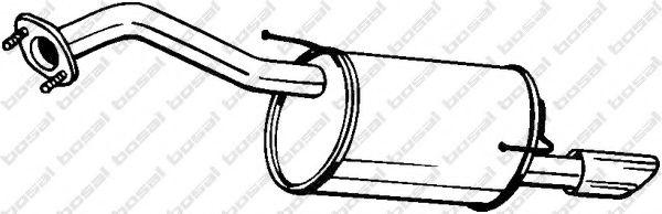 BOSAL 145-289 Глушитель выхлопных газов конечный для NISSAN JUKE (Ниссан Джук)