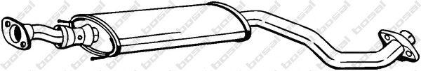 BOSAL 284-625 Средний глушитель выхлопных газов для NISSAN JUKE (Ниссан Джук)