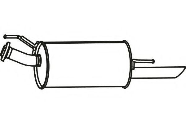 FENNO P41002 Глушитель выхлопных газов конечный для NISSAN JUKE (Ниссан Джук)