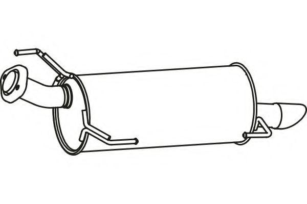 FENNO P41004 Глушитель выхлопных газов конечный для NISSAN JUKE (Ниссан Джук)