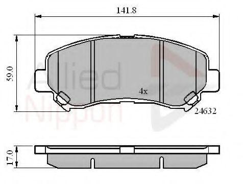 COMLINE ADB01577 Комплект тормозных колодок, дисковый тормоз для NISSAN QASHQAI (Ниссан Кашкай)