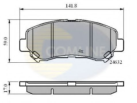 COMLINE CBP01577 Комплект тормозных колодок, дисковый тормоз для NISSAN QASHQAI (Ниссан Кашкай)