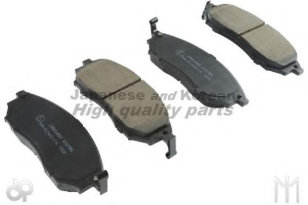 ASHUKI 1080-4901 Комплект тормозных колодок, дисковый тормоз для NISSAN QASHQAI (Ниссан Кашкай)