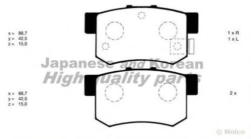 ASHUKI H026-20 Комплект тормозных колодок, дисковый тормоз для GREAT WALL HOVER H6 (Грейтвол Хоvэр х6)