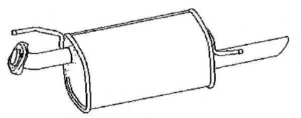 KLARIUS 211055 Глушитель выхлопных газов конечный для NISSAN JUKE (Ниссан Джук)