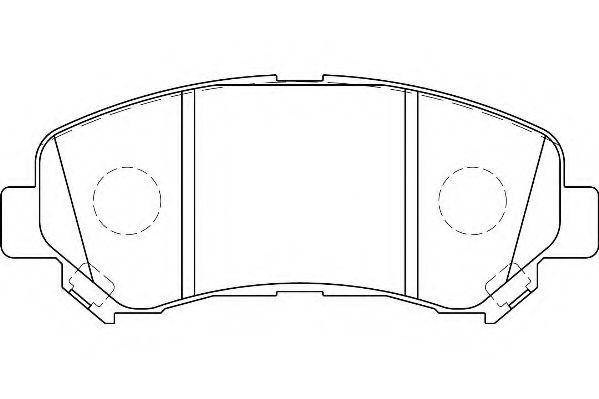 WAGNER WBP24632A Комплект тормозных колодок, дисковый тормоз для NISSAN QASHQAI (Ниссан Кашкай)