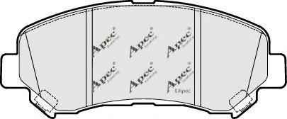 APEC braking PAD1621 Комплект тормозных колодок, дисковый тормоз для NISSAN QASHQAI (Ниссан Кашкай)